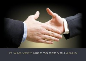 Greeting Card wih Men Shaking Hands