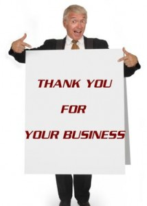 Poster Board Greeting Card Thank You for Your Business