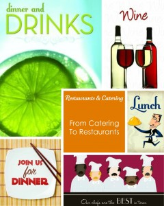 restaurant and catering greeting cards