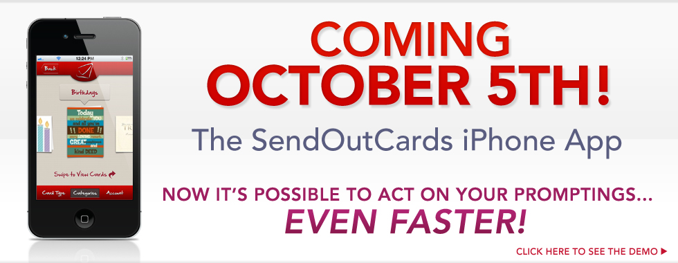 Post image for Coming October 5th – SendOutCards Greeting Card App